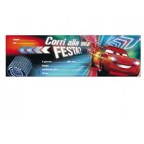 BLOCCHETTO 10 INVITI ALLA FESTA CARS 2 DISNEY Rex Sadoch