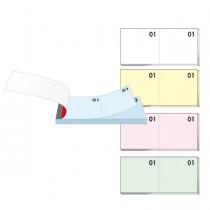 BLOCCO NUMERATO 1-100 colori assortiti 13x6cm art. 12-10B BM