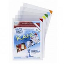 Confezione 5 tasche a L con retro adesivo f.to A4 multicolor Tarifold