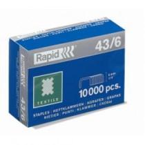 Punti metallo 43-6 Rapidin sc. da 10.000