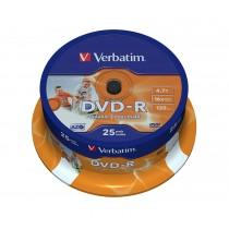 DVD-R PRINTABLE 4,7 GB 120 MIN.CF.25 PZ.