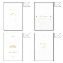 Biglietto auguri Matrimonio carta perlata 4 soggetti ass. Kartos