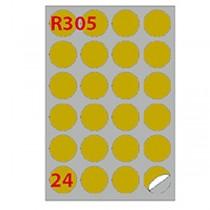 Etichetta adesiva R-305 oro 100fg A4 DIM.40mm (24et-fg) x laser Markin