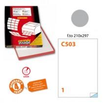 Etichetta adesiva C-503 argento 100fg A4 210x297mm (1et-fg) x laser Markin
