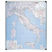 CARTA GEOGRAFICA ITALIA MAGNETICA 123X105CM Nobo