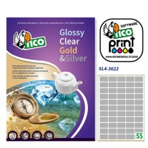 Etichetta ades rettangolare argento satinata 100fg A4 36x22mm (55et-fg) Tico