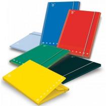 CARTELLA 3 LEMBI c-elastico A4 - D 1.2 MONOCROMO colori assortiti