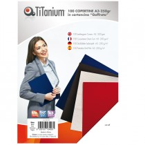 100 COPERTINE A3 CARTONCINO GOFFRATO 250g NERO TiTanium