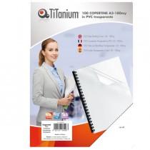 100 COPERTINE A3 PVC TRASPARENTE 180my TiTanium