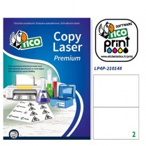 Poliestere adesivo LP4P bianco 70fg A4 210x148mm (2et-fg) laser Tico