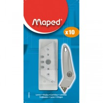 10 LAME TRAPEZOIDALI PER CUTTER MAPED