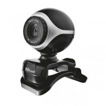Webcam Exis per Pc e laptop con microfono integrato - nero-silver - Trust