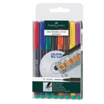 BUSTA 8 COLORI PENNARELLO MULTIMARK 1,0mm MEDIO FABER-CASTELL