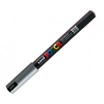 Marcatore UNI POSCA Pen PC1M p.extra fine 0,7mm argento UNI MITSUBISHI
