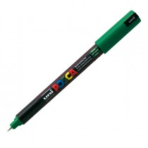Marcatore UNI POSCA Pen PC1M p.extra fine 0,7mm verde UNI MITSUBISHI