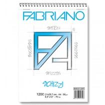 Blocco Schizzi spiralato 21x29.7cm 12fg 90gr FABRIANO