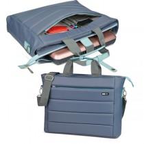 Cartella City Time in nylon 42x33x10cm grigio-azzurro Niji