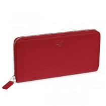 Portafoglio in pelle Saffiano 19,5x10,5cm rosso Niji