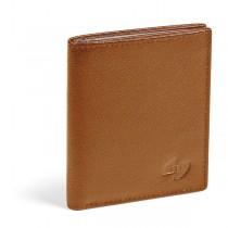 Portacard in pelle Saffiano 8x9,5cm 16 card cognac Niji