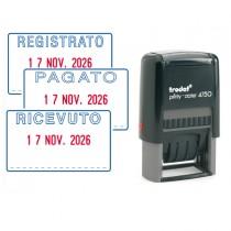 Timbro Printy Eco 4750-2 41x24mm DATARIO_PAGATO autoinch. TRODAT