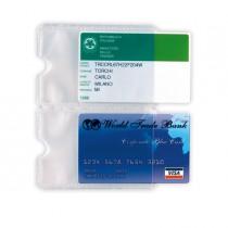 5 BUSTE PORTA CARD 2P TRASP. A 2 TASCHE 5,8X8,7CM