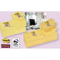 BLOCCO 90foglietti Post-it Super Sticky Z-Notes Canary™76x127mm R350-123SS-CY