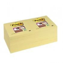 BLOCCO 90foglietti Post-it Super Sticky Giallo Canary™ 76x76mm 654-12SS-CY