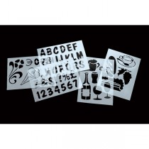 SET 6 STENCIL TRASPARENTI ASSORTITI Securit
