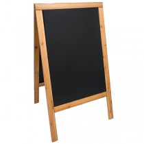 LAVAGNA TEAK A CAVALLETTO 69x125cm SANDWICH Securit