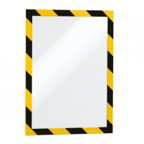 Cornice adesiva Duraframe Security A4 21x29,7cm giallo-nero DURABLE