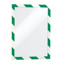 Cornice adesiva Duraframe Security A4 21x29,7cm verde-bianco DURABLE