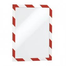 Cornice adesiva Duraframe Security A4 21x29,7cm rosso-bianco DURABLE