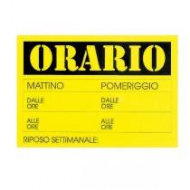 CARTELLO IN CARTONCINO 'ORARIO dalle..alle..' 23x32cm CWR 315-13