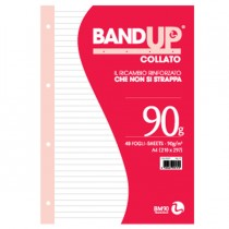 BLOCCO COLLATO FORATI RINFORZATI BANDUP A4 90gr 40fg 1rigo BM