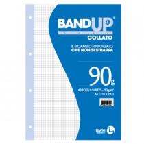 BLOCCO COLLATO FORATI RINFORZATI BANDUP A4 90gr 40fg 4mm BM