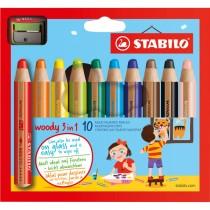 Astuccio 10 pastelli STABILO WOODY 3in1 _ TEMPERINO