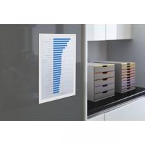 Cornice espositiva adesiva Duraframe A4 21x29,7cm bianco DURABLE