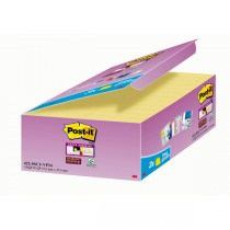 VALUE PACK 21_3 BLOCCO 90fg Post-itSuper Sticky Giallo Canary™ 47.6x47.6mm