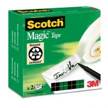 SCATOLA 2 RT NASTRO Scotch ADESIVO 810-1266 12MMX66MT per BORDURE e GIUNZIONI