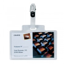100 portanome Pass 3M 9,5x6cm c-clip in metallo s-cartoncino Sei Rota