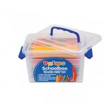 SCHOOLBOX 120 PASTELLI COLORATI MAXI JUMBO 100 FSC in 12 colori PRIMO