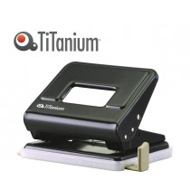 PERFORATORE 2 fori in metallo nero TiTanium