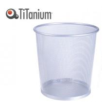 CESTINO GETTACARTE 10,5lt SILVER in metallo Titanium