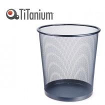 CESTINO GETTACARTE 12,3lt NERO in metallo Titanium