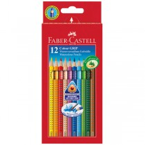 ASTUCCIO 12 PASTELLI COLORATI ACQUERELLABILI Color Grip FABER CASTELL