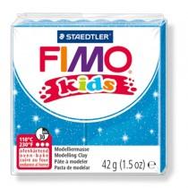 PASTA POLIMERICA FIMO KIDS 42gr BLU GLITTER 312