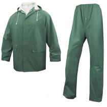 COMPLETO IMPERMEABILE EN304 Tg. XL verde (giacca_pantalone)