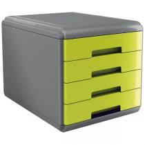Cassettiera 4 cassetti 45mm MyDesk verde ARDA