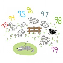 ADESIVI MURALI REMOVIBILI - DREAMING WOLF - SIZE L 48x68 WALLSKIN