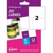 Etichetta adesiva HJJ01 carta glossy 6fg A6 64x95mm (2et-fg) inkjet Avery